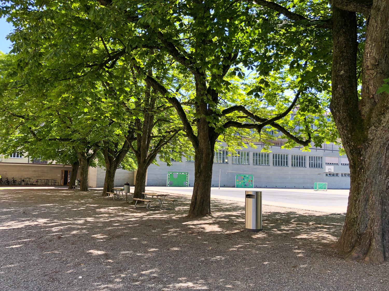 Ein Zmittag am Schatten: Beim Säli-Schulhaus lässt sich trotz Hitzewelle verweilen.