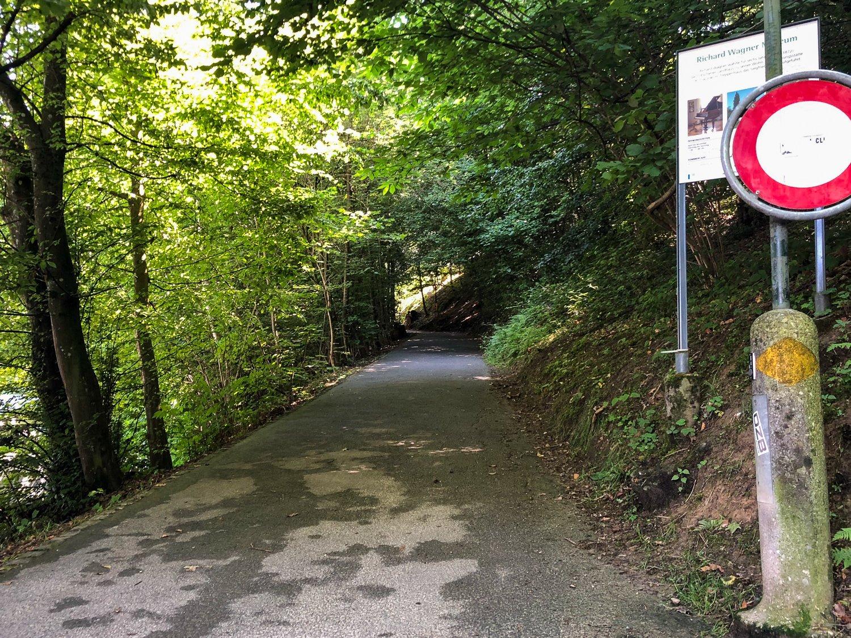 Hier bleibt's immer frisch: der Tribschenmoosweg Richtung Wagner-Museum.
