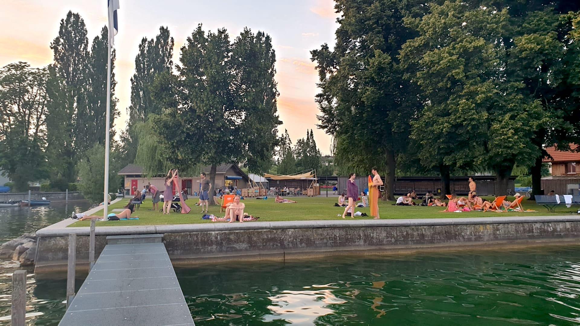 Ehemaliges Männerbad am Siehbach in Zug.