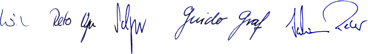Unterschriften der Luzenrer Regierung